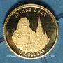 Monnaies République du Libéria. 25 dollars Jeanne d'Arc 2001. (PTL 999/1000. 0,73 g)