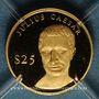 Monnaies République du Libéria. 25 dollars Jules César 2000. (PTL 999‰. 0,73 g)