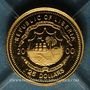 Monnaies République du Libéria. 25 dollars Jules César 2000. (PTL 999/1000. 0,73 g)