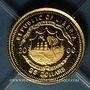 Monnaies République du Libéria. 25 dollars Louis II 2000. (PTL 999‰. 0,73 g)