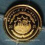 Monnaies République du Libéria. 25 dollars Marco Polo 2001. (PTL 999‰. 0,73 g)