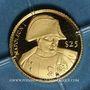 Monnaies République du Libéria. 25 dollars Napoléon 2000. (PTL 999/1000. 0,73 g)
