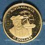 Monnaies République du Libéria. 25 dollars Nostradamus 2001. (PTL 999‰. 0,73 g)