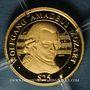 Monnaies République du Libéria. 25 dollars W.A. Mozart 2000. (PTL 999‰. 0,73 g)