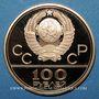 Monnaies Russie. 100 roubles 1979. J.O. Moscou 1980 - le vélodrome. (PTL 900‰. 17,28 g)
