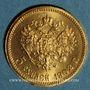 Monnaies Russie. Nicolas II (1894-1917). 5 roubles 1902. (PTL 900‰. 4,30 g)