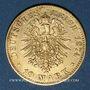 Monnaies Saxe. Albert (1873-1902). 10 mark 1874 E. (PTL 900‰. 3,98 g)
