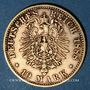 Monnaies Saxe. Albert (1873-1902). 10 mark 1888 E. (PTL 900‰. 3,98 g)