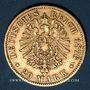 Monnaies Saxe. Albert (1873-1902). 20 mark 1876E. (PTL 900/1000. 7,96 g)