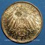 Monnaies Saxe. Frédéric Auguste III (1904-1918). 10 mark 1907E. (PTL 900/1000. 3,98 g)