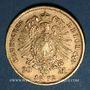 Monnaies Saxe. Jean I (1854-1873). 20 mark 1872 E. (PTL 900‰. 7,96 g)
