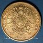 Monnaies Saxe. Jean I (1854-1873). 20 mark 1873E. (PTL 900/1000. 7,96 g)