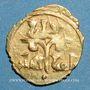 Monnaies Sicile. Les Normands. Roger II (1105-1154). Tari or au nom de Roger II comte de Sicile