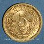 Monnaies Suède. Oscar II (1872-1907). 5 kronor 1901EB. (PTL 900‰. 2,24 g)