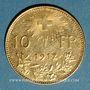 Monnaies Suisse. 10 francs 1912B. 900 /1000. 3,22 gr