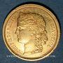 Monnaies Suisse. Confédération. 20 francs Helvetia 1886B. (PTL 900‰. 6,45 g)