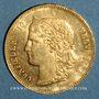 Monnaies Suisse. Confédération. 20 francs Helvetia 1892 B. (PTL 900‰. 6,45 g)