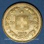 Monnaies Suisse. Confédération. 20 francs Helvetia 1896B. (PTL 900‰. 6,45 g)
