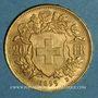 Monnaies Suisse. Confédération. 20 francs Vreneli 1899 B. (PTL 900‰. 6,45 g)