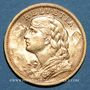 Monnaies Suisse. Confédération. 20 francs Vreneli 1904 B. (PTL 900‰. 6,45 g)