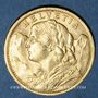 Monnaies Suisse. Confédération. 20 francs Vreneli 1907 B. (PTL 900‰. 6,45 g)
