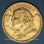 Monnaies Suisse. Confédération. 20 francs Vreneli 1909B. (PTL 900‰. 6,45 g)