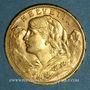 Monnaies Suisse. Confédération. 20 francs Vreneli 1913 B. (PTL 900‰. 6,45 g)