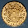 Monnaies Suisse. Confédération. 20 francs Vreneli 1914 B. (PTL 900‰. 6,45 g)