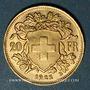 Monnaies Suisse. Confédération. 20 francs Vreneli 1922 B. (PTL 900‰. 6,45 g)