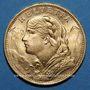 Monnaies Suisse. Confédération. 20 francs Vreneli 1926 B. (PTL 900‰. 6,45 g).  50.000 ex !