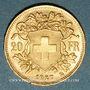 Monnaies Suisse. Confédération. 20 francs Vreneli 1927 B. (PTL 900‰. 6,45 g)