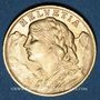 Monnaies Suisse. Confédération. 20 francs Vreneli 1935 LB. (PTL 900‰. 6,45 g)