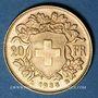 Monnaies Suisse. Confédération. 20 francs Vreneli 1935B. (PTL 900‰. 6,45 g)