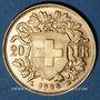 Monnaies Suisse. Confédération. 20 francs Vreneli 1935LB. (PTL 900‰. 6,45 g)