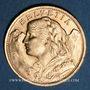 Monnaies Suisse. Confédération. 20 francs Vreneli 1947 B. (PTL 900‰. 6,45 g)