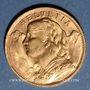 Monnaies Suisse. Confédération. 20 francs Vreneli 1947B. (PTL 900‰. 6,45 g)