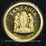 Monnaies Tanzanie. République. 1500 schillings 2013 (PTL 999‰.  0,5 g)