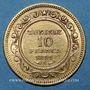 Monnaies Tunisie. Ali III, bey (1299-1320H = 1882-1902). 10 francs 1891A. (PTL 900‰. 3,22 g)