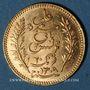 Monnaies Tunisie. Ali III, bey (1299-1320H = 1882-1902). 20 francs 1892A. (PTL 900‰. 6,45 g)