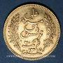 Monnaies Tunisie. Ali III, bey (1299-1320H = 1882-1902). 20 francs 1897A. Torche. (PTL 900‰. 6,45 g)