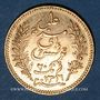 Monnaies Tunisie. Ali III, bey (1299-1320H = 1882-1902). 20 francs 1898 A. (PTL 900‰. 6,45 g)