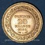 Monnaies Tunisie. Ali III, bey (1299-1320H = 1882-1902). 20 francs 1898A. (PTL 900‰. 6,45 g)