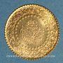 Monnaies Turquie. République. 25 kurush de luxe 1968. (PTL 917‰. 1,75 g)