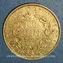 Monnaies Vatican. Pie IX (1846-1878). 10 lires 1867 an XXIIR Rome. (PTL 900‰. 3,22 g)