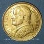 Monnaies Vatican. Pie IX (1846-1878). 20 lires 1869 an XXIVR, Rome (PTL 900‰. 6,45 g)