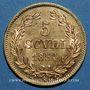 Monnaies Vatican. Pie IX (1846-1878). 5 scudi 1854 an IXR. (PTL 900‰. 8,67 g)