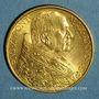 Monnaies Vatican. Pie XI (1922-1939). 100 lires 1933-1934 (PTL 900‰. 8,80 g)