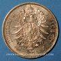 Monnaies Wurtemberg. Charles I (1864-1891). 10 mark 1873 F. (PTL 900‰. 3,98 g)