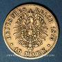 Monnaies Wurtemberg. Charles I (1864-1891). 10 mark 1875F. (PTL 900/1000. 3,98 g)