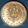 Monnaies Wurtemberg. Charles I (1864-1891). 10 mark 1880 F. (PTL 900‰. 3,98 g)